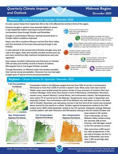 First page of the Quarterly Climate Impacts and Outlook for the Midwest Region