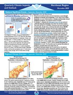 First page of the Quarterly Climate Impacts and Outlook for the Northeast Region
