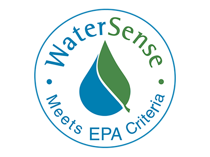 EPA WaterSense label indicating that appliances are certified to use at least 20% less water helping control water bills.
