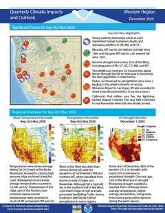 First page of the Quarterly Climate Impacts and Outlook for the Western Region